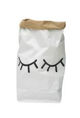 Tellkiddo Sac de rangement en papier robuste - Yeux endormis