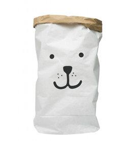 Tellkiddo Sac de rangement en papier robuste - Ours