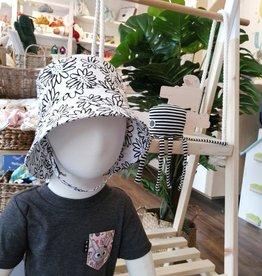 Tirigolo Chapeau ajustable - Blanc et noir - 2-3 ans
