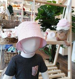 Tirigolo Chapeau ajustable - Blanc et rose - 24 mois