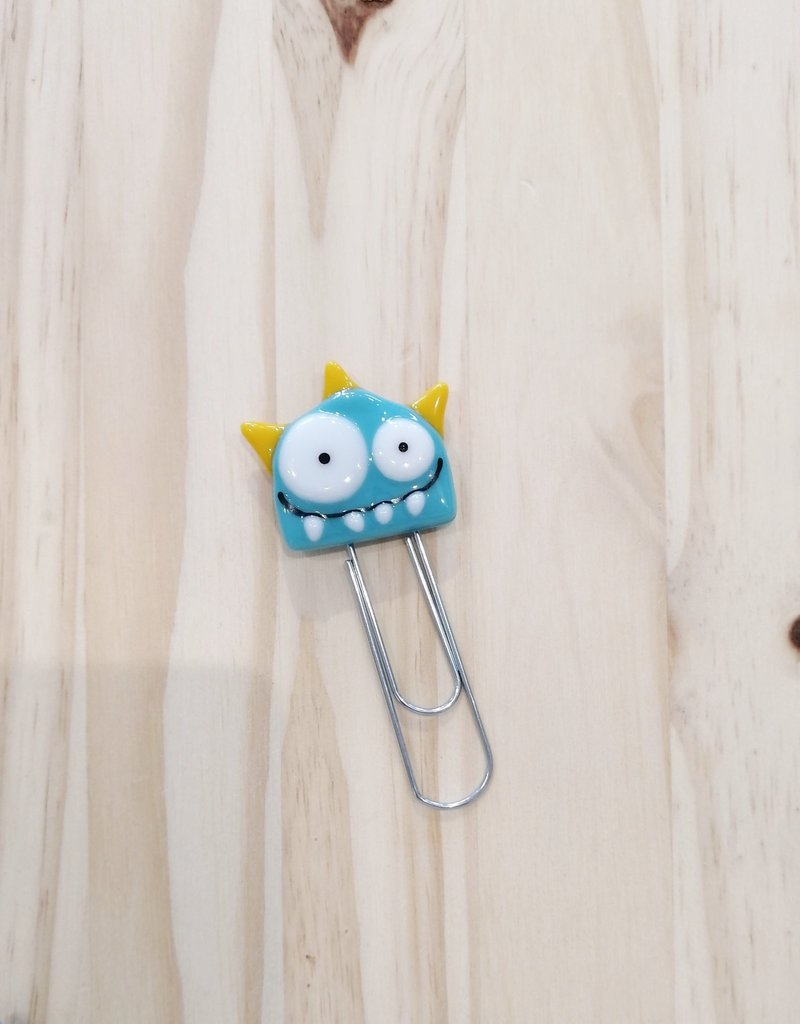 Veille sur toi Giant paper clip - Blue monster - Free shipping