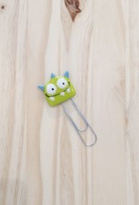 Veille sur toi Giant paper clip - Green monster - Free shipping
