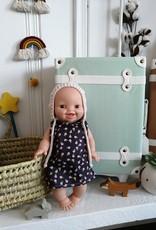 Paola Reina Robe pour poupée Paola Reina - Mauve et petites fleurs