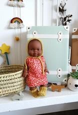 Paola Reina Robe pour poupée Paola Reina - Rouge et orange