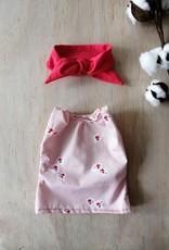 Paola Reina Robe pour poupée Paola Reina - Rose pâle à fleurs