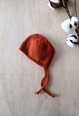 Monamigurumi Bonnet de poupée tricoté à la main - Rouille