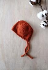 Paola Reina Bonnet tricoté à la main - Rouille