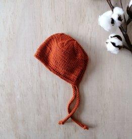 Paola Reina Bonnet de poupée tricoté à la main - Rouille