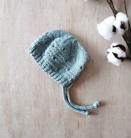 Paola Reina Bonnet tricoté à la main - Turquoise