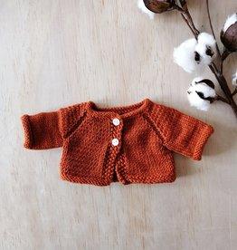 Monamigurumi Veste tricotée à la main - Rouille