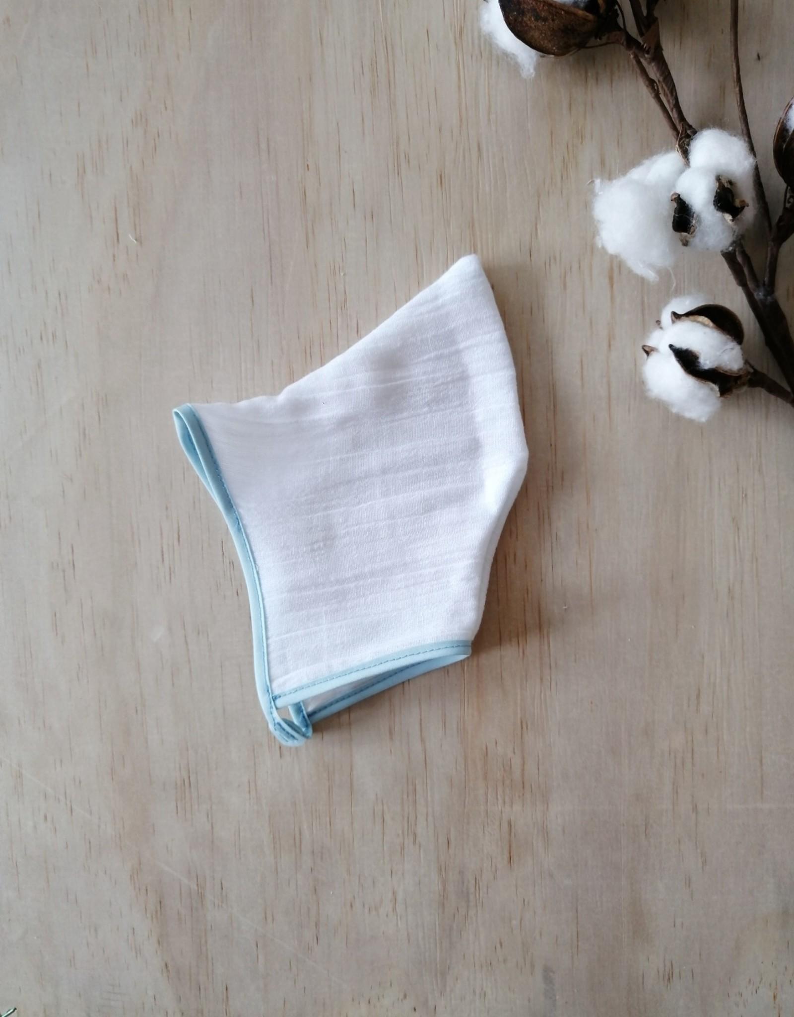 Paola Reina Capine en tissu - Blanc et turquoise