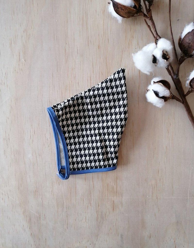 Paola Reina Capine en tissu - Pied de poule et bleu