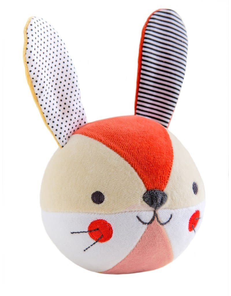 Petit Collage Chime ball - Pink bunny  0+