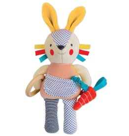 Petit Collage Organic activity doll - Busy pink bunny 0+