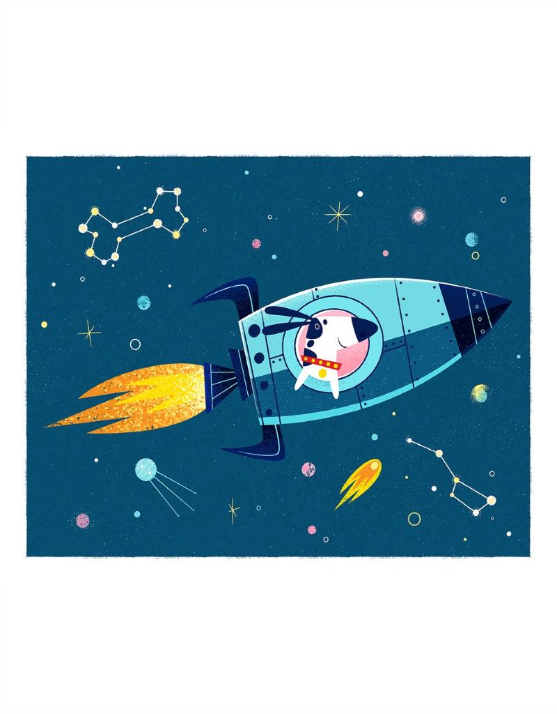 coucou illustration Illustration - LAÏKA le chien de l'espace