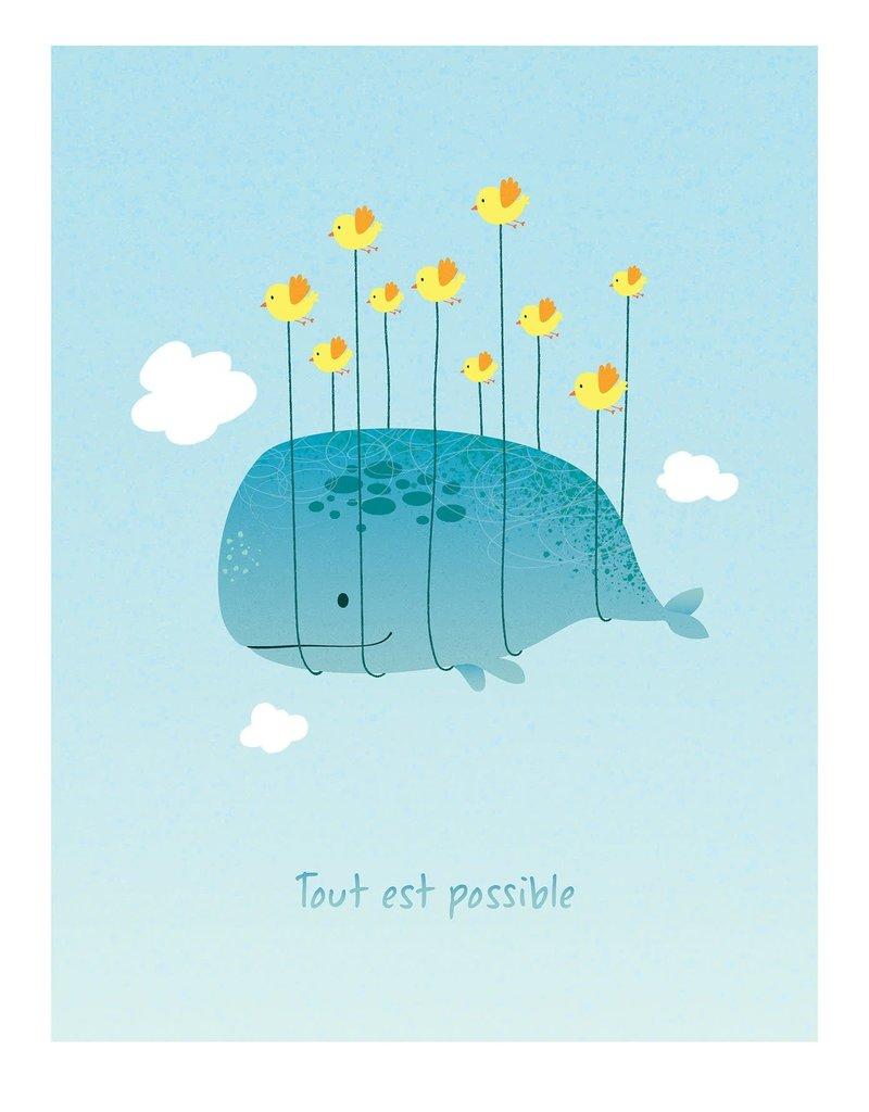 coucou illustration Illustration - TOUT EST POSSIBLE - BLEU