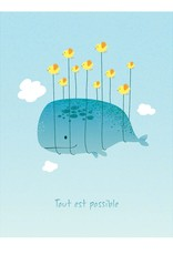 coucou illustration Illustration - NOTHING IS IMPOSSIBLE - BLUE