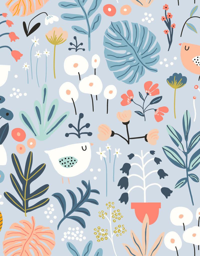 Olé Hop Couverture minky - Jardin fleuri
