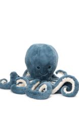 Jelly Cat Peluche Pieuvre GÉANTE - Bleu tempête
