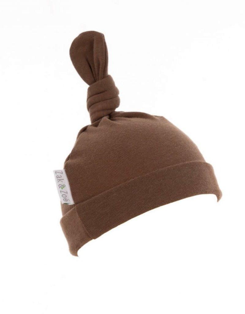 Zak & Zoé Bamboo newborn baby hat 0-3 months - Americano