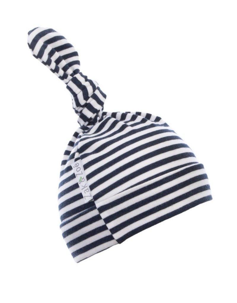 le meilleur design distinctif moins cher Zak & Zoé Bonnet en bambou 0-3 mois - Ligné bleu et blanc