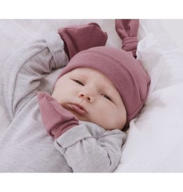 Zak & Zoé Bamboo newborn baby mittens 0-3 months - Old pink