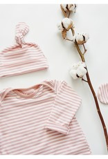 Zak & Zoé Bonnet en bambou 0-3 mois - Ligné rose et blanc