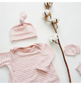 Zak & Zoé Bamboo newborn baby hat 0-3 months - Pink stripes