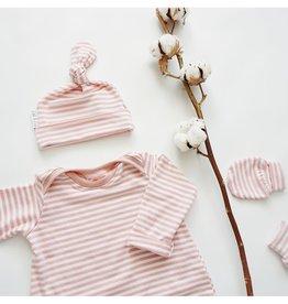 Zak & Zoé Bamboo newborn baby mittens 0-3 months - Pink stripes