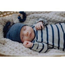 Zak & Zoé Bamboo newborn baby hat 0-3 months - Blue Jeans