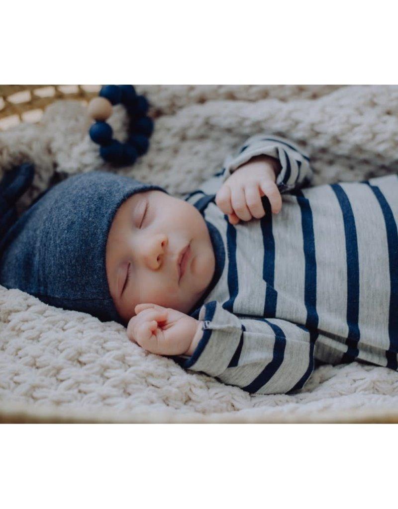 Zak & Zoé Bamboo newborn baby hat 0-3 months - Blue Jeans