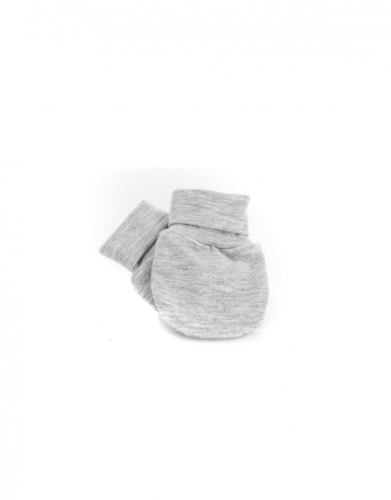 Zak & Zoé Bamboo newborn baby mittens 0-3 months - Pale grey