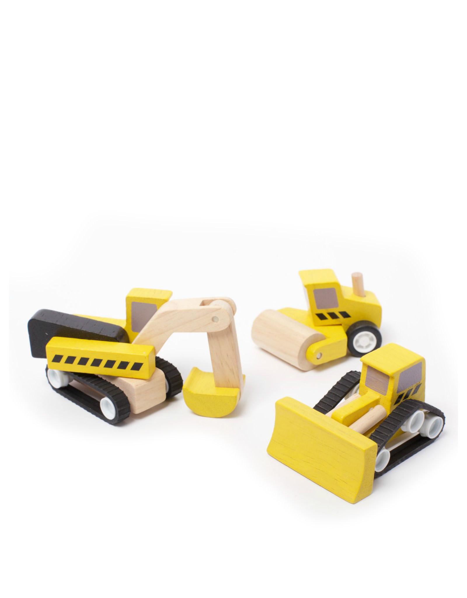 Plan Toys Ensemble de camions de construction en bois