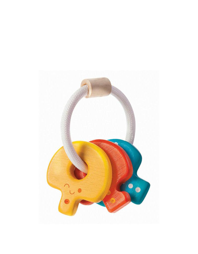 Plan Toys Clés en bois pour bébé - couleurs vives