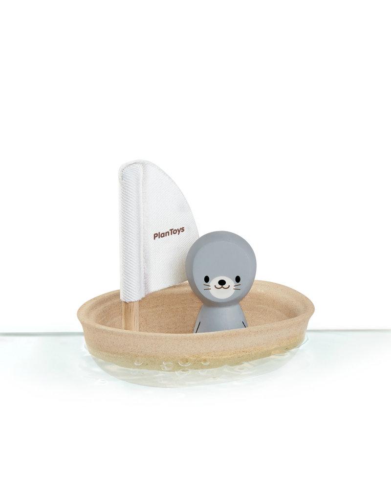 Plan Toys Jouet d'eau - Voilier et Petit phoque