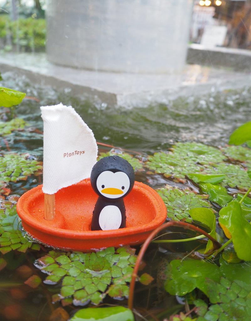 Plan Toys Jouet d'eau - Voilier et Petit pingouin