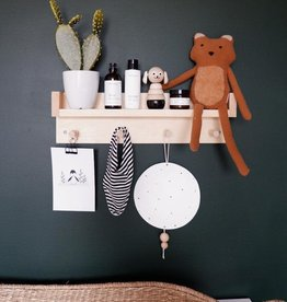 Minika Wood shelf - 4 hooks