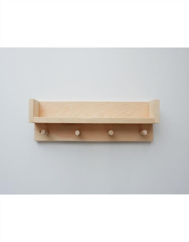 Minika Wood shelf - 4 hooks