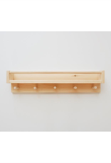 Minika Book shelf with 5 hooks