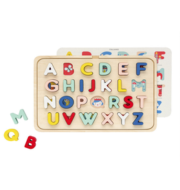 Petit Collage Multi-language alphabet wood tray puzzle