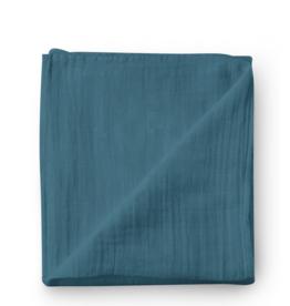 Olé Hop Bamboo muslin blanket - Blue