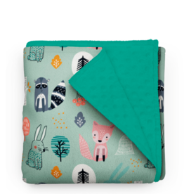 Olé Hop Minky Blanket -  Forest animals - Minky without dots