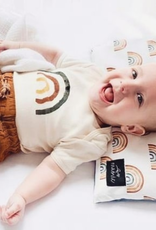 ma petite portée Onesie  6-12 months - Rainbow -green, brick, yellow
