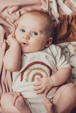 ma petite portée Onesie  12-18 months - Rainbow -Brick, pink, yellow