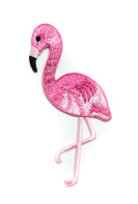 Tattoo It iron-on Patch -  pink flamingo