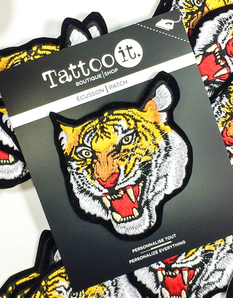 Tattoo It Iron-on Patch  -  Tiger