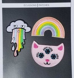 Tattoo It Iron-on Patch  -  Rainbow Mania ( set of 3)