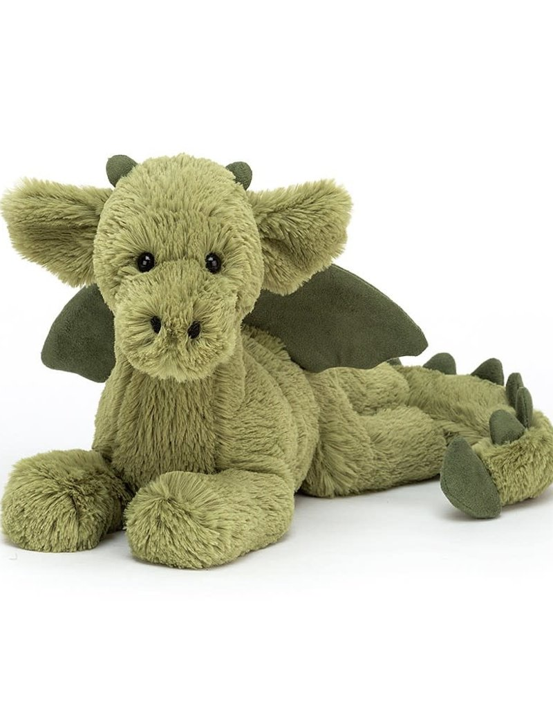 Jelly Cat Peluche dragon vert - moyen