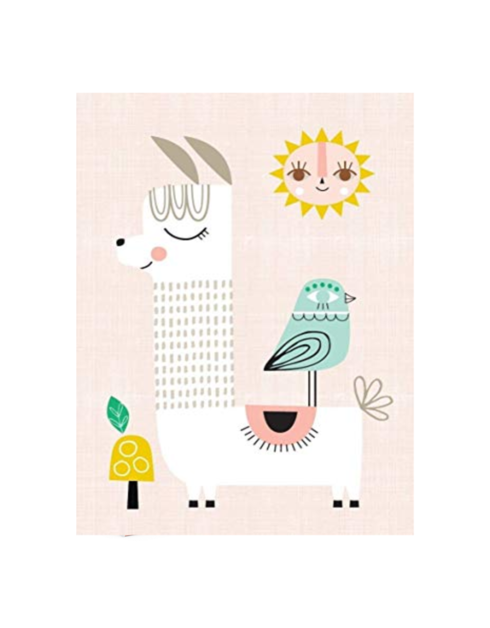 Petit Monkey Affiche - Lama rose