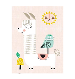 Petit Monkey Poster - Pink Llama